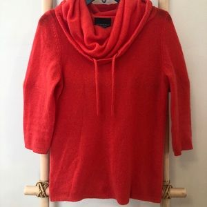 Cynthia Rowley Loose Neck Orange Cashmere Sweater
